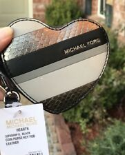 NWT MICHAEL KORS leather heart coin purse, MSRP $78