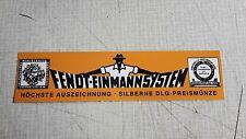 Fendt Einmannsystem Schild für die Pritsche Geräteträger GT 220  230 231   16050