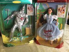 BARBIE &KEN WIZARD OF OZ, Dorothy, Tin Man, & Scarecrow NRFB 3 Dolls Mint