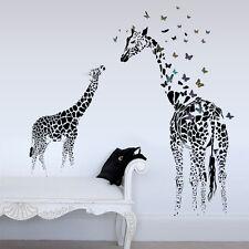 Wandtattoo Afrika Giraffe Zimmer Schlafzimmer Tier schwarz Sticker Aufkleber