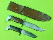 US WW2 Vintage Set of 2 Custom Hand Made Theater Fighting Knife & Sheath