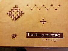 Hardangermonster Needlework Booklet RARE Vtg 50s Malmo Sweden S. Lawergren