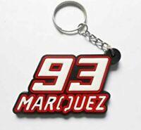 Llavero de moto Marc Marquez, silicona, Llaveros, Keyring, Keychain, Honda