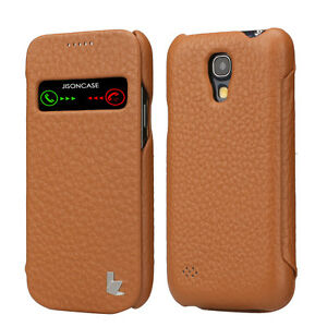 FOR SAMSUNG GALAXY S4 SMART-VIEW GENUINE LEATHER EXECUTIVE FOLIO CASE COVER