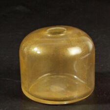 GIORGIO ARMANI signierte Murano Glas Vase Goldpuder Label von 2012 TOP Zustand