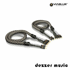 ViaBlue 2x 8,00m SC-6 Air Silver Bi-Wire Lautsprecherkabel / High End Referenz