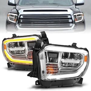 Anzo 111532 Chrome Switchback LED Headlights for 2014-2017 Tundra SR SR5 Limited