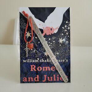 HANDMADE BOOKMARK HAND STAMPED FRIEND LOVE ROMEO JULIET WHEREFORE ART THOU GIFT