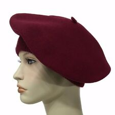 Laulhere French Wool Soft Beret Hat La Parisienne Bordeaux Made In France 6 7/8