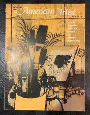 American Artist vintage magazine, 1964, design, aesthetic, 1960s, retro