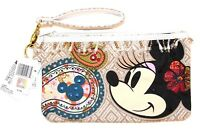Disney Shanghai Resort Minnie Mouse Mickey Icon Woven Wristlet Wallet Purse Bag