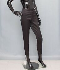 MALENE BIRGER Trousers Satin Black Pants Skinny Ankle 38