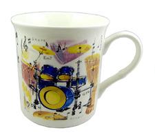 Drum Kit Mug - Music Themed Gift - Musical Mug - Gift for Drum Student