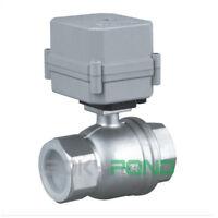 NPT 1-1/2'' Motorized Ball Valve AC 110-230V Electrical Ball Valve,SS304,CR2-02