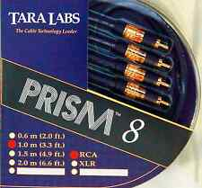 "Brand New Tara Labs ""Prism 8"" RCA Interconnect Audio Cables 1.0 meters 3.3 ft"