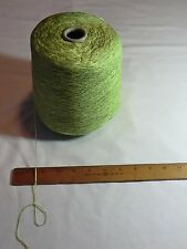 Rayon chenille cone yarn, 2900 ypp. color: Lime. 1 lb., 12 oz. net. knit, weave