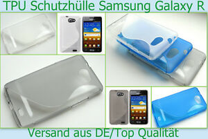 Samsung Galaxy R GT - I9103 Schutz hülle Cover Silikon Case Bumper Schale Tasche