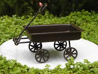 Miniature Dollhouse FAIRY GARDEN Accessories ~ Rusted Tin Wagon ~ NEW