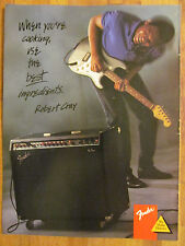 Robert Cray, Fender Amps Amplifiers, Full Page Promotional Ad