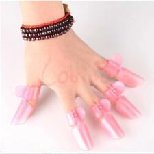 Nail Pink Manicure Polish Protection Clips Cover Protector Finger Shield Clip