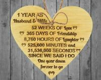 1st Wedding Anniversary Gift For Her Anniversary Gift First Wedding Wooden Heart