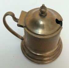 Victorian Brass Antique Mustard Pot Preowned Unboxed (894D43)