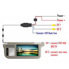 "7"" Car Sunvisor Rear View Mirror Screen Lcd Monitor DVD/VCD/GPS/TV Sun Visor Fab"