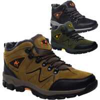 Herren Wanderschuhe Winter Warm Stiefel Outdoor Boots Trekking Gefüttert Schuhe