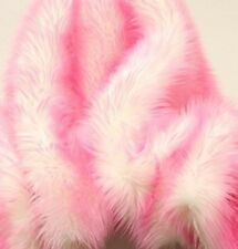 "Faux Fur fake pink Frosted tips fabric 60"" Wide sold by the yard upholstery"
