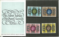 Queens Accession Silver Jubilee 1977 British Post Office Mint Stamps Pack U1200