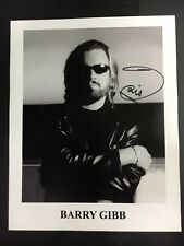 Barry Gibb Bee Gees Signed 8x10 Photo Dramatic Pose with COA