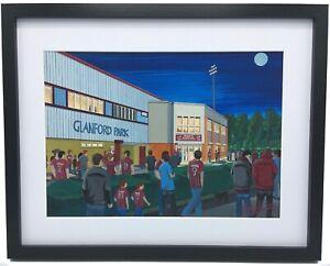 Scunthorpe United FC Glanford Park High Quality Framed Art Print. Approx A4.