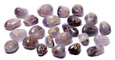 Amethyst Stone Spiritual Rune Set Natural Healing Crystal Tumbled Gemstone