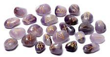 Amethyst Stone Spiritual Rune Set Natural Healing Crystal Tumbled Gemstone Reiki