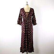 NWT Stunning April Cornell Gold Tree of Life Cottagecore Prairie Maxi Dress M