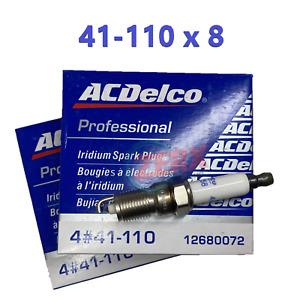 8 Iridium Spark Plugs LS1 LS2 LS3 LS6 L99  41-110 12621258 5.3  6.0 6.2L