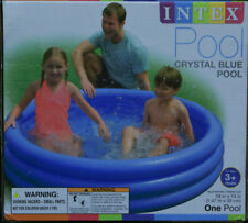 "Intex Crystal Blue 58"" x 13"" Ages 3+ Inflatable Kids Above Ground Pool New"