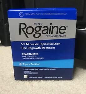 Mens Rogaine Extra Strength Topical Solution 5% Minoxidil 3 Month Supply EXP2022