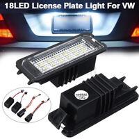 2X 18 LED TARGA LUCE POSTERIORE PER VW EOS GOLF MK4 MK5 MK6 MK7 PASSAT B6