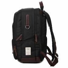 Mens 14 Inch Laptop Shoulder Travel Rucksack Black School Bag Business Backpack