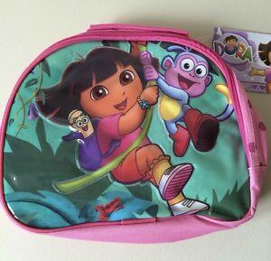 DORA THE EXPLORER INSULATED LUNCH BAG CHILDS KIDS NURSERY SCHOOL PICNICS GIRLS