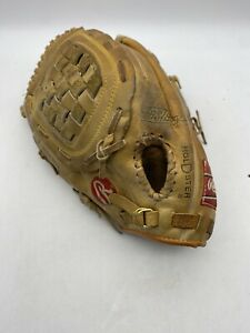 """Vintage Rawlings RSG1 - 13.5 """" Leather Ball Glove * Left Hand Throw LHT"""