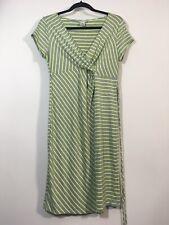 Motherhood Maternity Dress Women Size Medium Gray / Yellow Striped