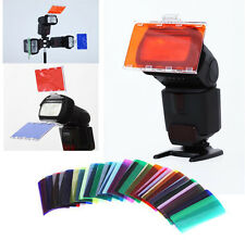 30pcs Color Photographic Flash Color Balance Gels Filter Card Lighting Diffuser