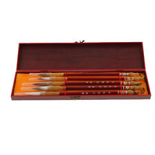 5pcs Chinese Caligraphy Writing Painting Brushes Wolf Hair Drawing Brushes