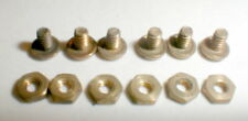 6 Brass Nuts & 6 Brass Bolts 1/32 Brass Monogram or Revell Chassis 1960s NOS