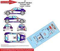 DECALS 1//32 REF 156 PEUGEOT 306 MAXI VANDEWAUVER RALLYE DE SPA 1998 RALLY WRC
