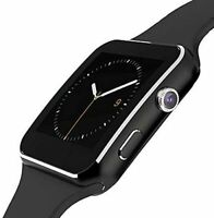 Bluetooth Smartwatch Camera Touchscreen Impermeabile SIM Card Android Nero