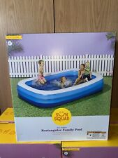 """10' X 22"""" Deluxe Rectangular Family Inflatable Above Ground Pool Sun Squad"""