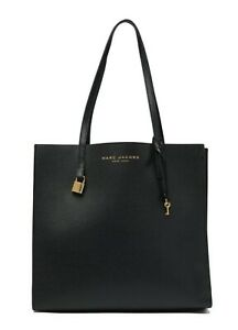 $395 New MARC JACOBS NEW YORK TOTE LEATHER  Hobo Large Satchel Bag BLACK